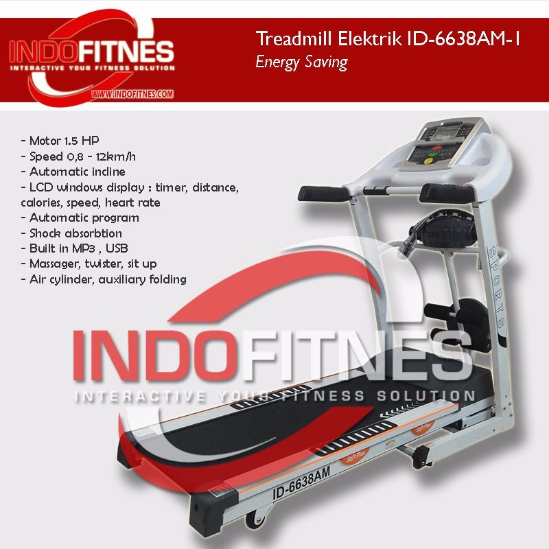 Treadmill Elektrik ID-6638AM-1 (1.5HP)