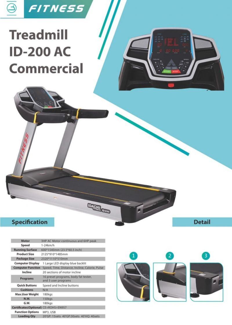 Treadmill Komersial ID-200 AC 6,0 HP